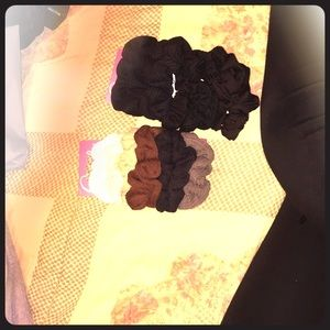 Two large packs of scrunchies